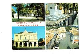 Cpm - 31 -  Montastruc-la-Conseillère - L'esplanade Monument Aux Morts Mairie Place Hôtel De Ville - 11596 - Montastruc-la-Conseillère