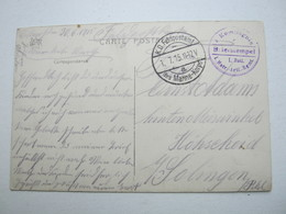 1915 , OOSTENDE, Carte  Militaire Allemagne - WW I