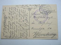 1916 , NIEUWPOORT   , Carte  Militaire Allemagne - WW I