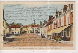 CPA-77-Seine Et Marne- DONNEMARIE-en-MONTOIS- La Place Du Marché- - Donnemarie Dontilly