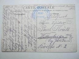 1917 , Brüssel  - Eisenbahn Maschinenamt  , Carte  Militaire Allemagne - WW I
