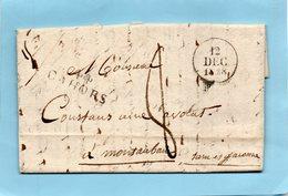 """Linéaire """"44 CAHORS"""",33X11mm,L.A.C. Du 12/12/28. - Poststempel (Briefe)"""