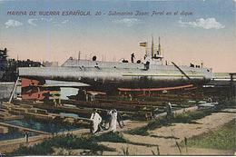 X117044 MARINA DE GUERRA ESPANOLA SUBMARINO ISAAC PERAL EN EL DIQUE - Submarines