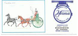 Buvard Montre Herma Tandem 1855 Offert Par Horlogerie Bijouterie à AUCHEL (62) - Buvards, Protège-cahiers Illustrés