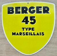 CARTON BERGER 45 TYPE MARSEILLAIS - Pappschilder