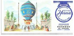Buvard Montre Herma Ballon Dirigeable Offert Par Horlogerie Bijouterie à AUCHEL (62) - Buvards, Protège-cahiers Illustrés