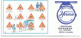 Buvard Montres Herma Code De La Route Offert Par Horlogerie Bijouterie à AUCHEL (62) - Buvards, Protège-cahiers Illustrés
