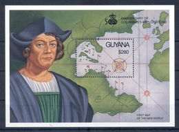 GUYANA *1992 * S/Sheet * MNH** Discovery Of America - Columbus - Mi.No BL163 - Guiana (1966-...)