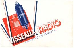 Buvard 21.1 X 13.6 VISSEAUX RADIO La Lampe De France - Carte Assorbenti