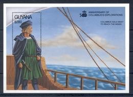 GUYANA *1992 * S/Sheet * MNH** Discovery Of America - Columbus - Mi.No BL164 - Guiana (1966-...)