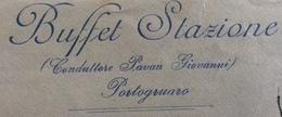 PORTOGRUARO BUFFET STAZIONE BUSTA PUBBLICITARIA CON LETTERA PER DESENZANO CON AMBULANTE TRESTE-VENEZIA * 17/12/26 - 1900-44 Vittorio Emanuele III