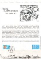 DOCUMENT FDC 1981 MICROELECTRONIQUE - Documenten Van De Post