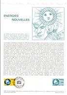 DOCUMENT FDC 1981 ENERGIES NOUVELLES - Documenten Van De Post