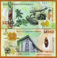 Papua New Guinea, 100 Kina, 2008, Pick 37, UNC > Commemorative Hybrid Polymer - Papoea-Nieuw-Guinea