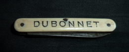 Couteau Ancien, Publicité,   DUBONNET - 1 Lame - Messen