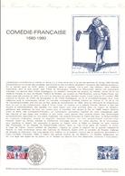 DOCUMENT FDC 1980 TRICENTENAIRE DE LA COMEDIE FRANCAISE - Documenten Van De Post