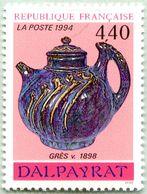 N° Yvert & Tellier 2857 - Timbre De France ( * * ) - (Année 1994) - Arts Décoratifs - Théière Céramique De Dalpayrat - France