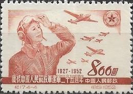 CHINA 1952 25th Anniversary Of People's Liberation Army -  $800 Pilot, Ilyushin Il-4 DB-3 Bomber & Jet Fighter MNG - 1949 - ... Volksrepublik