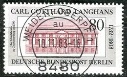 Berlin - Mi 684 - Zentrisch OO Gestempelt (E) - 80Pf  Carl Gotthard Langhans - Berlin (West)