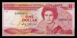 East Caribbean States / Dominica $1 Dollar P. 17d ND 1985-88 QEII Note UNC - Oostelijke Caraïben