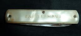 Couteau Ancien, Publicité,   Bar TERMINUS - Bd. Gambetta - Nice Tél. 88 12 91 NICE - 1 Lame - Cuchillos