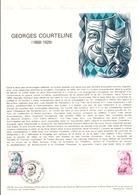 DOCUMENT FDC 1979 GEORGES COURTELINE - Documents De La Poste