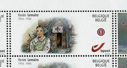 Duostamps Neuf 75 Ans  Bataille Des Ardennes Bastogne - Renée Lemaire Infirmière - Autres