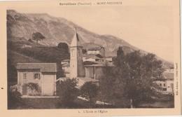 CPA 84 SAVOILLANS MONT- VENTOUX L'ECOLE ET L'EGLISE - Francia