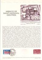 DOCUMENT FDC 1979 ABBAYE DE SAINT GERMAIN DES PRES - Documenten Van De Post
