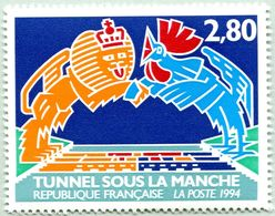 N° Yvert & Tellier 2880 - Timbre De France ( * * ) - (Année 1994) - Inauguration Tunnel Sous La Manche - France