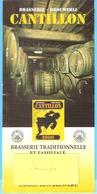 Publicité Brasserie-Brouwerij Cantillon-Feuillet Publicitaire (Bière-Bier-Gueuze) Pub. Des Années +/-2000-photo - Autres Collections