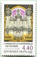 N° Yvert & Tellier 2890 - Timbre De France ( * *  ) - (Année 1994) - Bicentenaire Orgue Cathédrale De Poitiers - France