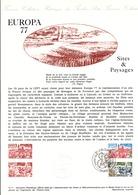DOCUMENT FDC 1977 EUROPA SITES ET PAYSAGES - Documenten Van De Post