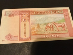 MONGOLIA P62 20 Tugrik 2014 Unc. - Mongolië