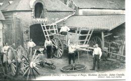 N°352 T -cpa Chemire En Charnie -charronage Et Forge, Machines Agricoles, Julien Coutelle- - Altri Comuni