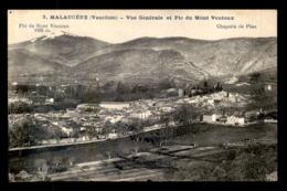 84 - MALAUCENE - VUE GENERALE ET PIC DU MONT VENTOUX - Malaucene