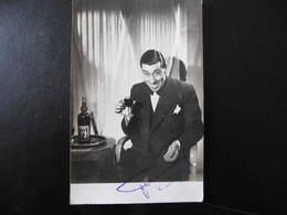Carte Autographe - FERNANDEL - Pub ST RAPHAËL - Autographes