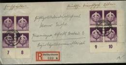 3. Reich - DR SA Wettkämpfe MEF Eckrand 4er Block Auf R - Briefumschlag : Gebraucht Bad Oynhausen - Krakau Polen 1942, - Germania