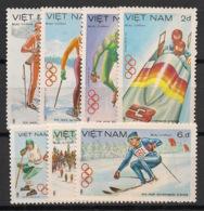 Vietnam - 1984 - N°Yv. 478 à 484 - Olympics / Sarajevo - Neuf Luxe ** / MNH / Postfrisch - Vietnam