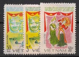 Vietnam - 1984 - N°Yv. 528 à 530 - Traite D'amitié - Neuf Luxe ** / MNH / Postfrisch - Vietnam