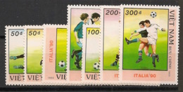 Vietnam - 1989 - N°Yv. 956 à 962 - Football World Cup Italia - Neuf Luxe ** / MNH / Postfrisch - Vietnam
