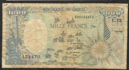 CONGO P11 1000 FRANCS 1992   VF - Congo