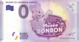 "Billet Touristique / Souvenir 0 €uro - 2015 -  FRANCE "" HARIBO "" - EURO"