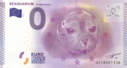 """Billet Touristique / Souvenir 0 €uro - 2015 -  FRANCE """" SEAQUARIUM """" - Essais Privés / Non-officiels"""