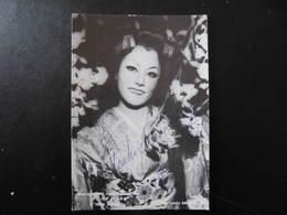 Carte Autographe - ATSUKO AZUMA  - Photo Louis MELANCON - Handtekening