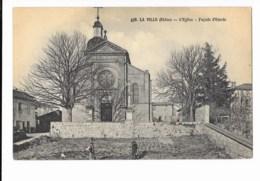 La Ville - L'Eglise - Façade D'Entrée - édit. R.L. 438 + Verso - France