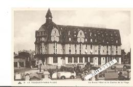 CP LE TOUQUET PARIS PLAGE LE GRAND HOTEL CASINO DE LA PLAGE ET LA NAVETTE ELECTRIQUE    VIERGE - Le Touquet