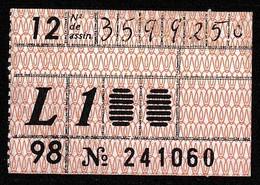 Monthly Bus Ticket, Portugal - Dezembro 1998 / L1 - Transportes Colectivos Da Região De Lisboa - Week-en Maandabonnementen