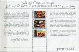 Portugal - 1976 - Yt BF 17 - 600 Ans Des Lois Des Services - ** - Hojas Bloque