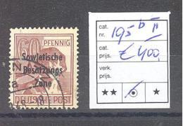 SBZ  Michel #  195 B  Mit PF II - Soviet Zone